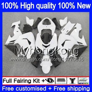 Carrosserie pour KAWASAKI ZX 10 R ZX1000C ZX10R 2006 2007 Blanc brillant 215MY.15 ZX1000 C ZX10R 06 07 ZX 1000CC ZX 10R 06 07 ABS carénages