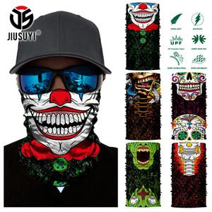 Tubo sin soldadura 3D Magic Joker Cinta de cabeza del esqueleto del cráneo del Ejército Bandana del calentador del cuello de la mascarilla de la bufanda deporte de la bicicleta bufanda principal Headwear C19011001