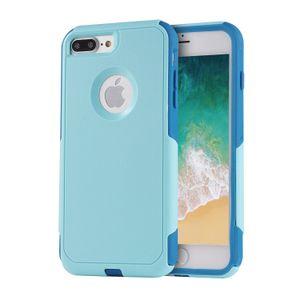 Für iphone 6 7 8 pendler rüstung handy fällen stoßfest dual layer ultradünne tpu hybrid robuste pc slim hard back case rutschfeste abdeckung