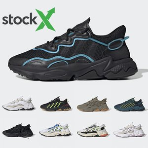 Adidas Ozweego adiPRENE shoes  2019 Pusha T X Ozweego Xeno Men Women Running Shoes Footwear Cloud White Bold Orange Solar Yellow Halloween Tones Core Black Sports Sneakers