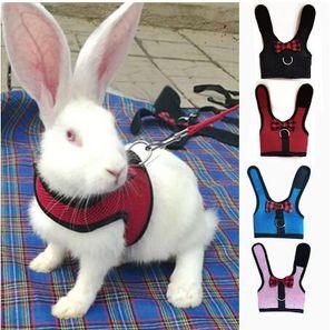 Leas Tavşan Mesh Göğüs Kayışı Kuşakları Ferret Kobay Küçük Hayvanlar Pet Aksesuar S / M / L GB1320 ile Tavşanlar Hamster Yelek Harness