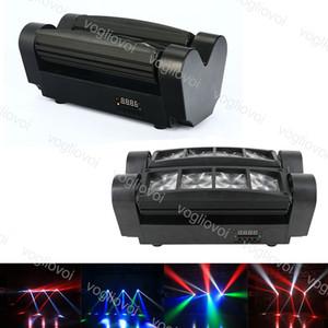 실내 무대 조명 DJ 디스코 DJ 장비 DHL 활성화 LED 효과 13W 8 렌즈 스파이더 램프 RGBW ABS 음성