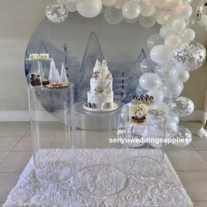 New style crystal aisle decor Event Display Stand clear wedding Centerpiece Dessert Table For Wedding senyu1429