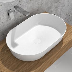 650 ملليمتر بالوعة الحمام كونترتوب غسل بالوعة المألوف مرحاض كوريان الغرور حوض غسيل الصلبة سطح الراتنج الاغتسال RS38541
