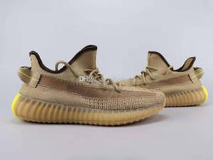 Nueva Kanye West V2 de los zapatos corrientes Desert Sage Tierra color retorno a la Tierra Yeezreel Yecheil diseñador para mujer para hombre Sneake