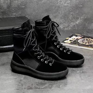 2019 أحذية KANYE العلامة التجارية عالية من الله الأعلى حذاء رياضة العسكرية هايت الجيش أحذية الرجال والنساء السود الأزياء والأحذية الخضراء مارتن الأحذية 38-45
