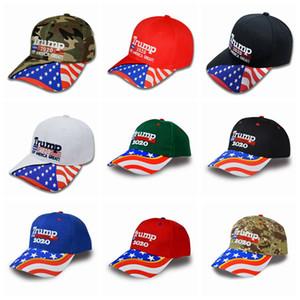 19 estilos Donald Trump Gorra de béisbol Camuflaje Keep America Great 2020 Presidente Elección Trump hat Ball Cap ZZA972