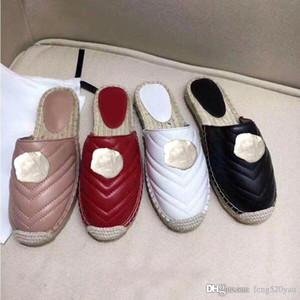 pantoufles classiques en cuir Designer 2019 nouveaux produits chaussures femme chaussures à boucle en métal chaussures à fond épais pêcheur pantoufles