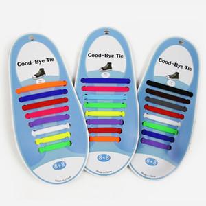 16pcs V-Tie Yaratıcı Tasarım Unisex Moda Tasarımı Atletik Koşu Yok Tie Ayakkabı dantel Elastik Lazy Silikon ayakabı Tüm Sneakers