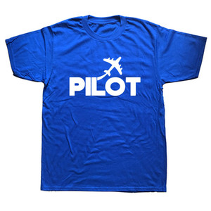 EAT SLEEP  Pilot Letter Printed T Shirt Men Summer Short Sleeve Cotton Plane Driver T-shirts Mens Clothing Camisetas