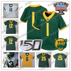 Baylor Bears 2019 Sugar Bowl 150º personalizados Cualquier Número Nombre Blanco Verde Amarillo # 5 Mims 6 JaMycal Hasty 7 Lovett NCAA camiseta de fútbol