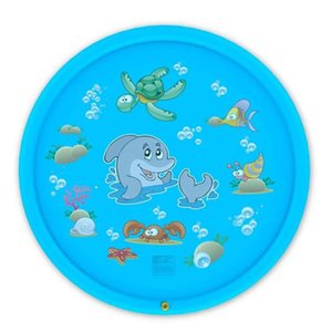 Kid Water Cushion Summer Children Play Mat Games Beach Pad Lawn Inflatable Spray Water Cushion Toys Outdoor Tub Swimming Pool