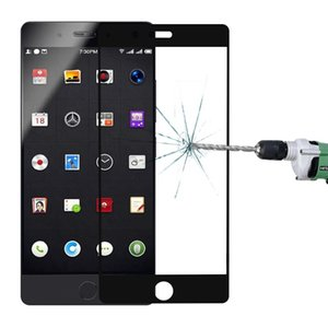 Smartisan somun Pro 0.3 mm 9 h yüzey sertlik 2.5 D kavisli İpek-ekran tam ekran temperli cam ekran koruyucu