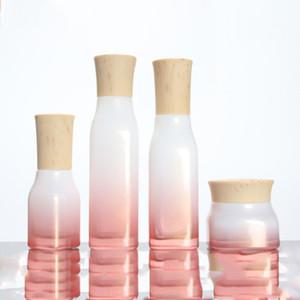 Contenitore cosmetico Bottiglia riutilizzabile Bottiglia di vetro rosso ciliegia Bottiglia spray Crema per lozione essenza spray 50g 40ml 100ml