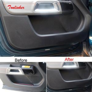 Autocollant de couverture anti-cadentifie d'intérieur de voiture de TonLinker pour C5 Aircross 2017-19 Style de voiture 4 PCS Stickers de couverture en carbone