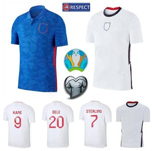 England 9 Harry Kane Jersey 2020 Eurocopa de Futebol 7 Raheem Sterling 20 Dele Alli 15 John Stones 19 Jadom Sancho Futebol shirt Kits