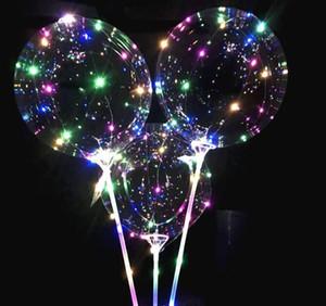 Çocuklar doğum günü partisi Düğün Süslemeleri İçin Çubuk Işıklı Yukarı Balloon ile Aydınlık LED Balonlar