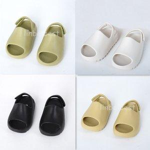 Childrens Shoes kanye west Foam Runner Slides Sandals Resin Bone Beach Slipper Kids Boys Toddler chaussures enfants Slippers Size 23-35