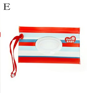 Wet Wipes Bag Cosmetic Pouch Clutch and Clean Easy-carry Snap-strapClamshell Wipes Container Wipes Eco-friendly Tissue Boxes