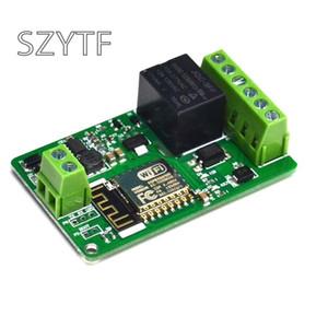 Circuits intégrés Nouveau Arrivée 1pcs Vert ESP8266 10A 220 Réseau relais WIFI Module d'entrée DC 7V ~ 30V 65x40x18mm Modules