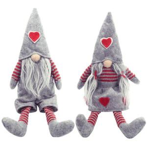 С Рождеством Длинные ноги Swedish Санта Gnome плюшевые куклы Украшение ручной работы Elf игрушки Дом отдыха Декор Сторона