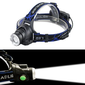 T6 Q5 LED Headlight Headlamp Head Lamp Light torch +2x18650 battery+EU US Car charger for fishing Lights