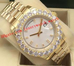 Versão mais recente Relógios de luxo 18kt ouro, prata Bigger moldura 228348 Asia 2813 Homens de Moda Automatic DIAMOND Watch Relógio de pulso