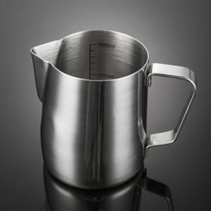 300ml lait Foamer outil Coupes fleurs en acier inoxydable Tirer lait café Frothing Pitcher Pièces Cuisine Etuve carafes