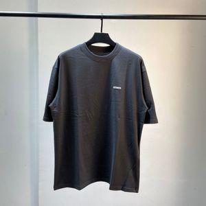 20SS Andys 유럽 스타일 자수 특대 티 패션 높은 품질 코튼 반팔 커플 여성과 남성 T 셔츠 HFXHTX270