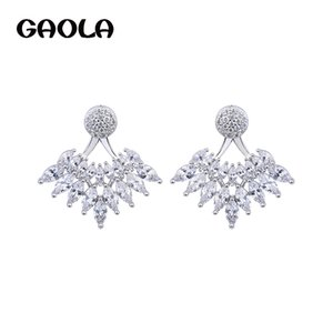 GAOLA Fashion Jewelry Classic Cubic Zirconia Stud Earrings For Women GLE6227Y