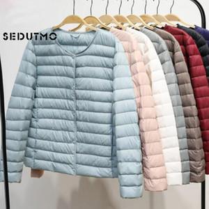 SEDUTMO Winter Plus Size 4XL Femmes Down Jacket ultra léger duvet de canard Manteau court Automne Slim court Doudoune T200102