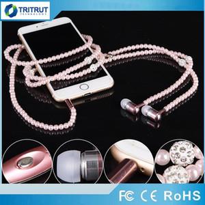Kopfhörer MP3 Diamond Pearl Perlen in der Ohr-Halsketten-Kopfhörer mit Mikrofon Fashional Geschenk Mädchen-Telefon-Ohrhörer-Kopfhörer-Geschenk-Qualitäts-MQ50