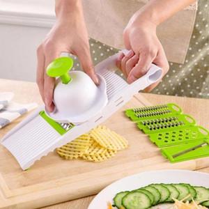 7pcs / Set Cozinha Multifuncional vegetal batata cortador Shred Slicer Grater Kichen Ferramenta Outros Kitchen Dining Bar