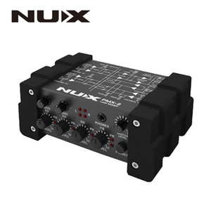 NUX PMX-2 PMX-2U I O Line Mixer mini mixer console USB sound console 6 8 inputs 2 outputs volume indicator level control