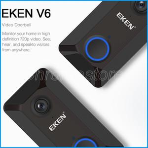 الشحن أحدث EKEN V6 اللاسلكية الذكية 720P واي فاي كاميرا فيديو الجرس سحابة التخزين الباب جرس كام أمن الوطن منزل جرس مجانا عن طريق DHL