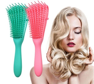 New Green Pink Hair Brush Scalp Massage Comb Women Detangle Hairbrush Comb Hairdressing Salon Styling Health Care Reduce Fatigue Sweet07 Hot
