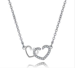 Alta qualità cristallo austriaco diamante amore cuore ciondolo collana dichiarazione classe moda donna ragazze signora elementi collana gioielli