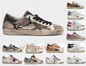 Moda Itália Goleden Old Style DB Sneakers Couro vilosidades Derme calçados casuais dos homens / mulheres Superstar instrutor Tamanho US 5-11