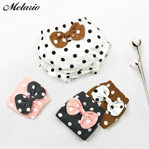 Melario Bebek Bebek Külot 2020 Yaz Sevimli Bow Knot Underwears Polka Dot Bebek Boys Kız Külot Çocuk Giyim