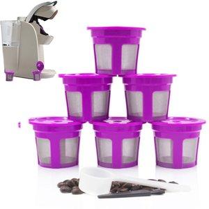 Nueva-6 piezas reutilizables K-Cup Café Universal de los filtros inoxidable de malla reemplazo para filtros de café Keurig