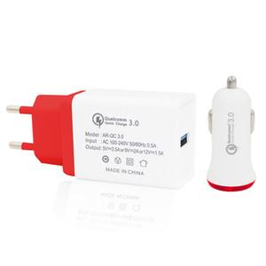 Minismile QC3 у.0 быстрая зарядка адаптер питания с QC3 у.0 Быстрое Автомобильное Зарядное Устройство Комплект