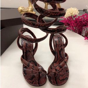 Shoes High-heeled Will Code Spelling Color Snake Belt Bare Toes With Woman Sandals
