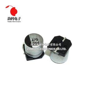 السلبي مكونات المكثفات 10PCS SMD 10 16 25 35V 50V 100 220 470 1000 1 2.2 4.7 10 22 47UF 2200UF الألومنيوم