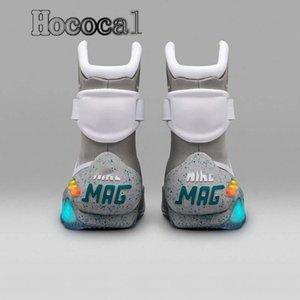 2020 디자인 Hococal 신발 미래 맥 플라이 LED 남성 매기 운동화 패션 럭셔리 그레이 여성 부츠 크기 40-46로 공기 잡지로 돌아 가기