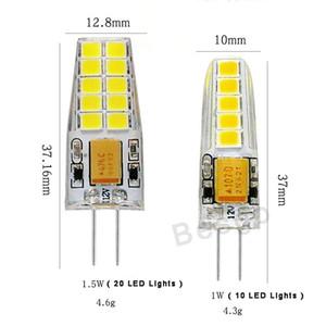 G4 12V 220V del maíz del LED lámpara de luz 1W 10/22 1.5W LED 2835 bulbo del maíz de silicona Lámparas de araña de cristal de decoración del hogar Luces DBC BH2894