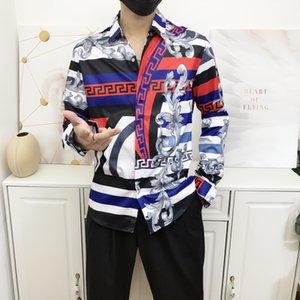 Luxury Men's Shirts High Quality Business Dress Casual Slim Fit Shirts Fashion Streetwear Hip Hop Mens Medusa Designer Shirts