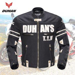 DUHAN Мотоцикл куртка мужчины лето Защита гвардии гонка куртка Motocross дышащей езда Jacket Профессиональный Protector