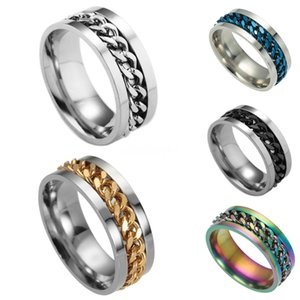 Valentine'S Day Gift- Mixed Order Dropshipping Stainless Steel Rings Mens Ring Chain And Tyre Design Rings Jewelries Factory Supplier 414 #48
