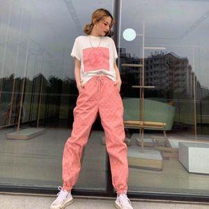Web Berühmtheit mit der gleichen heißen Gesellschaft weiblichen Anzug koreanischen Version der Kurzarmjacke Jacquard-Puppe Pulver Fußhosen zwei Sätze