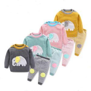 Bambini Designer Abbigliamento Bambino Maglia Maglia Maglione Vestito Newborn Spring Maglioni Pantaloni Abiti Abiti Animale Outdoor Stampa a Strisce Abbigliamento Abbigliamento Abbigliamento Set C7188